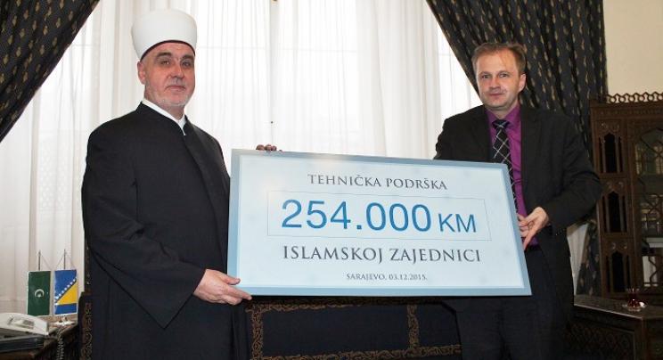 Reisu-l-ulema Husein ef. Kavazović i Amer Bukvić, direktor BBI banke